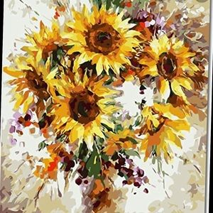 Sunflower paint by number kit